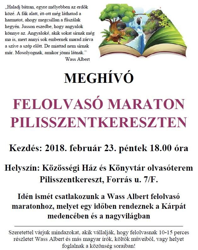 felolvasó maraton 2018