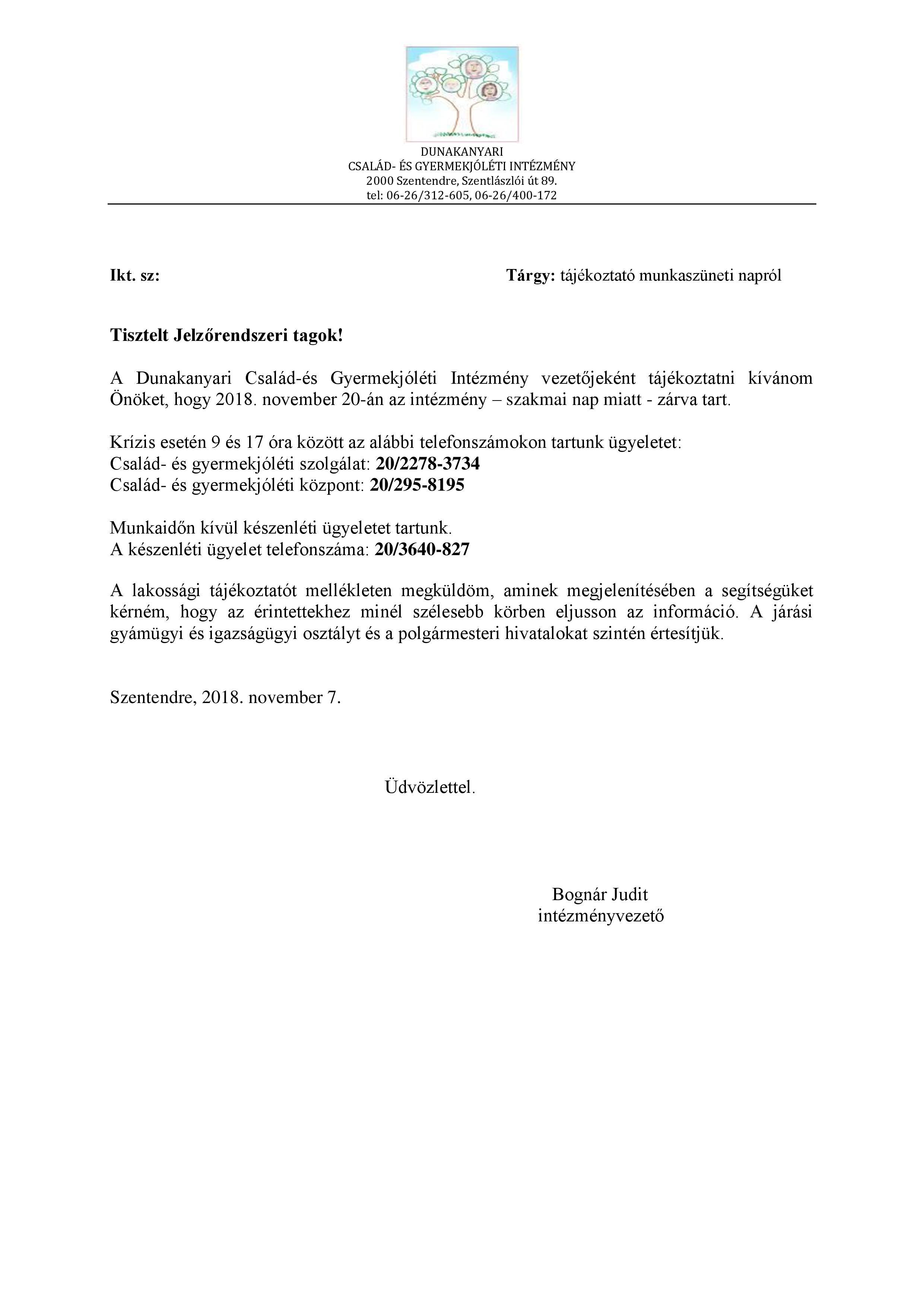 Dunakanyari Család- és Gyermekjóléti Intézmény
