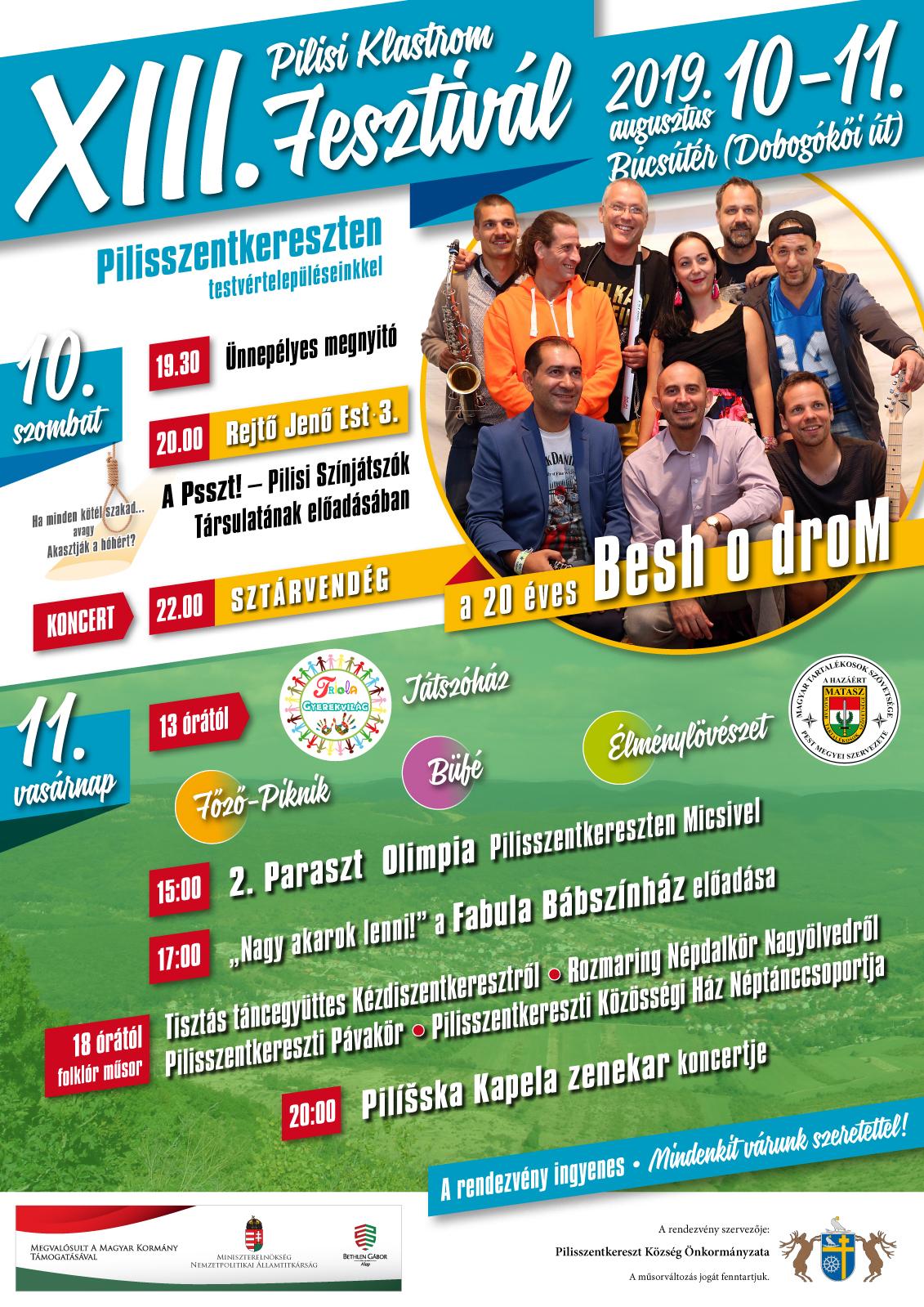 XIII. Pilisi Klastrom Fesztivál