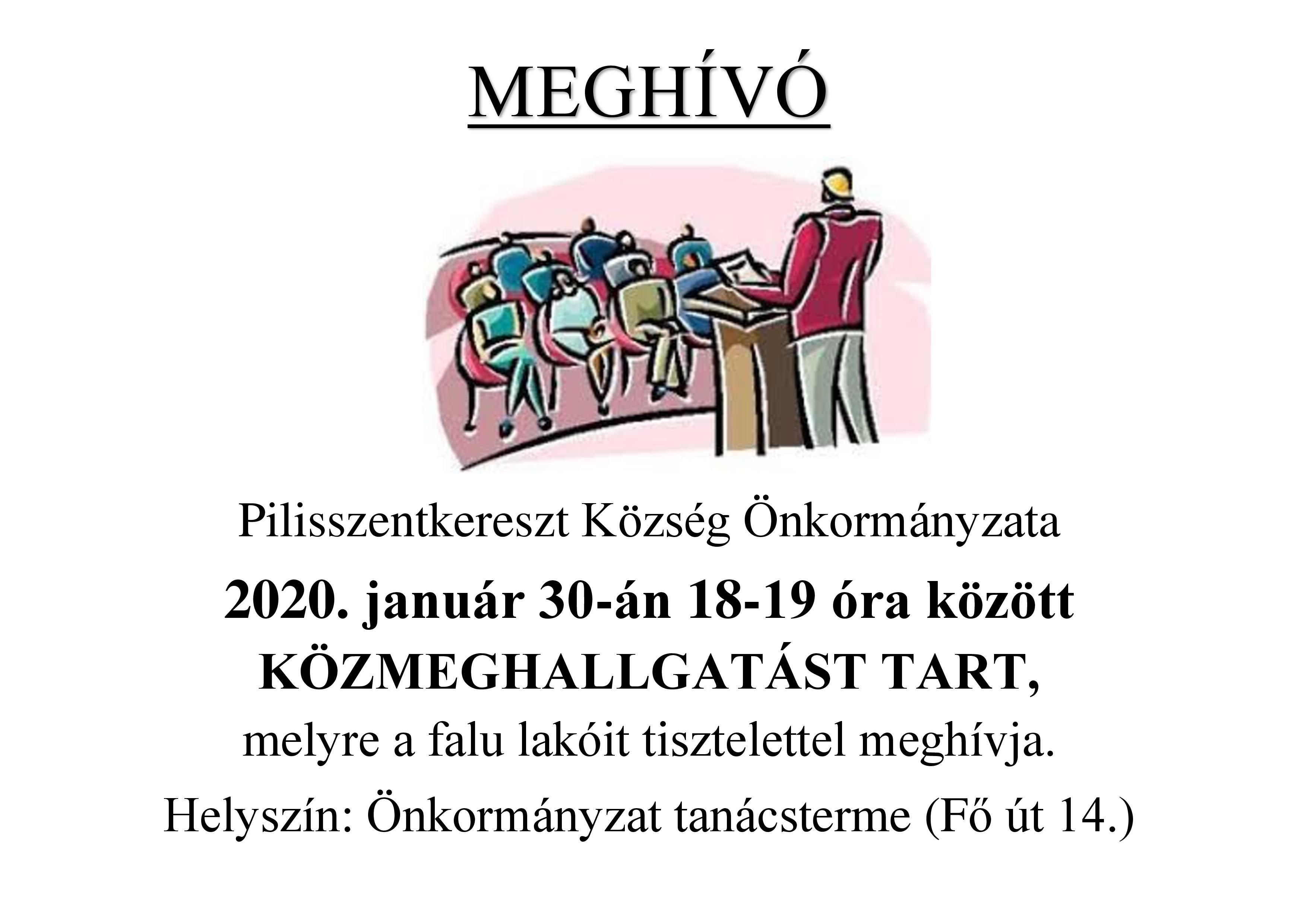 Meghívó közmeghallgatásra 2020.01.30.