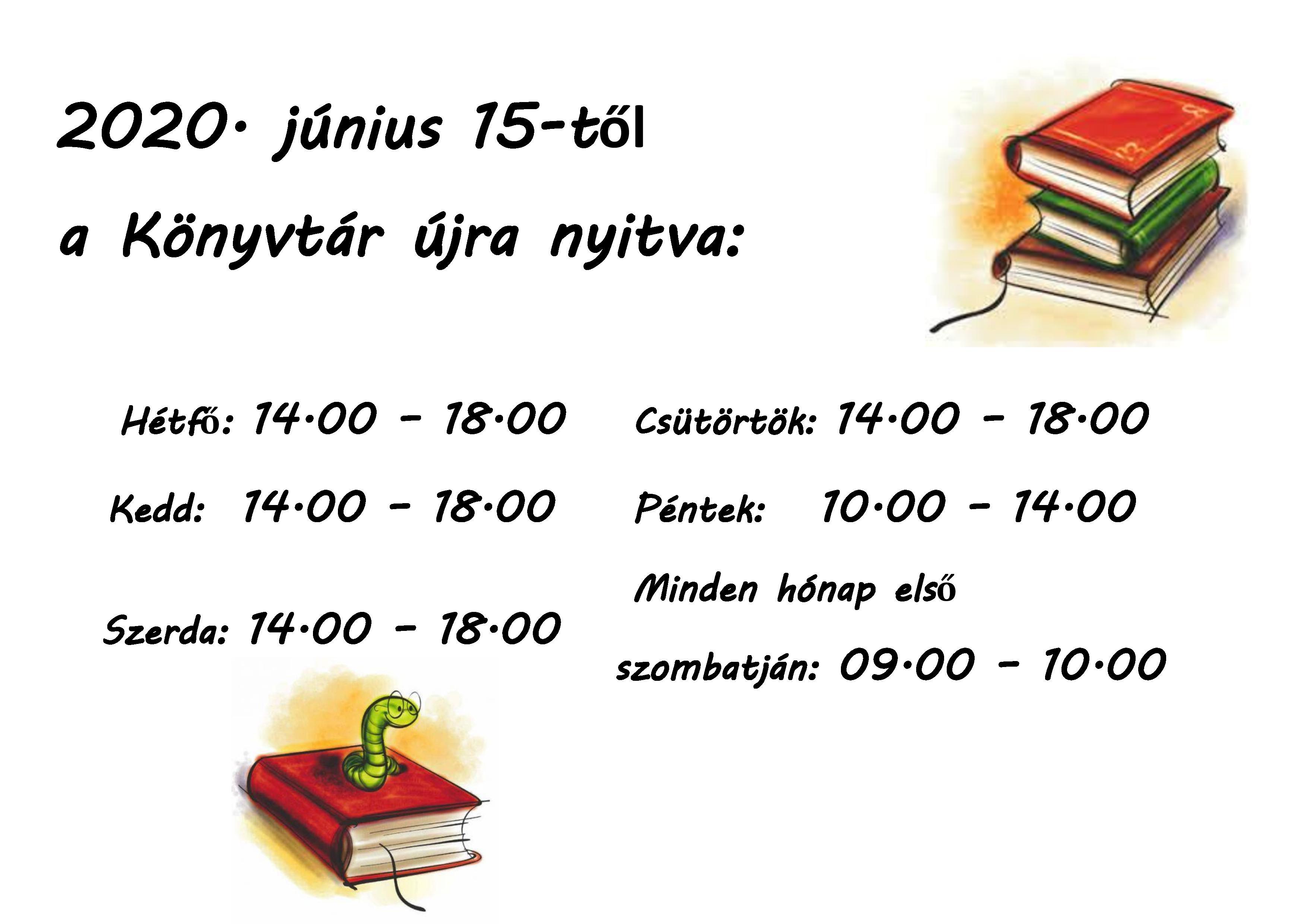 Könyvtár újra nyitva