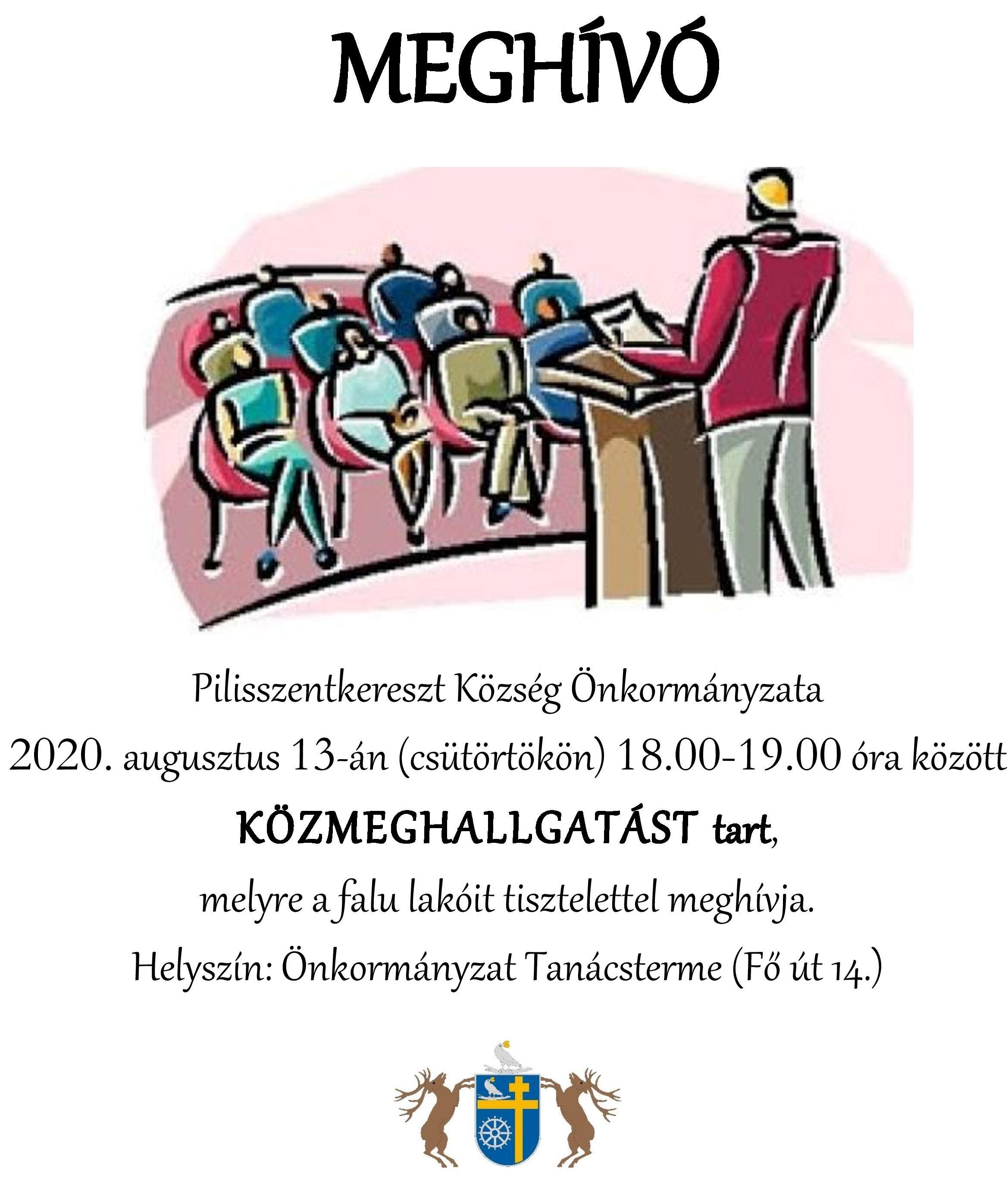 Meghívó közmeghallgatásra 2020.08.13.
