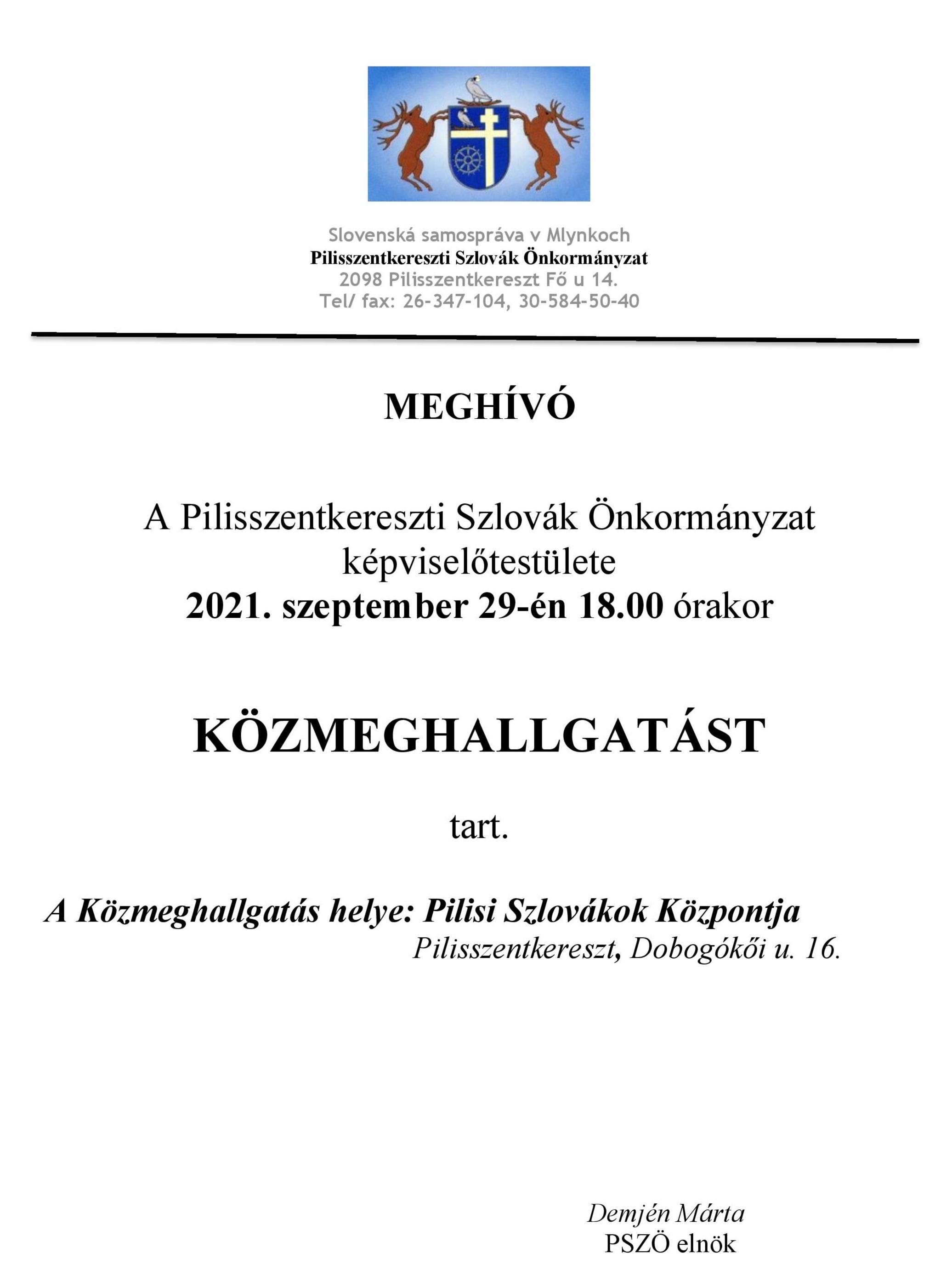 PSZÖ közmeghallgatás meghívó 09029.